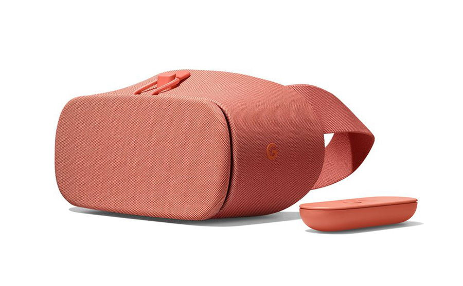 A Daydream View VR device