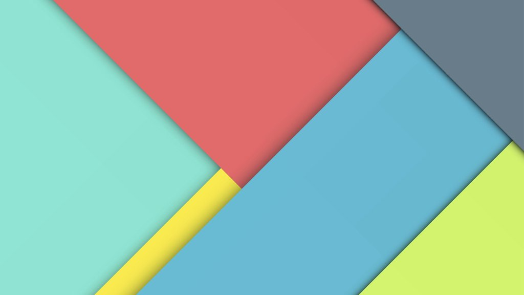 A pallete of material design colors